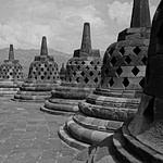 Bell-shaped stupas / Borobudur